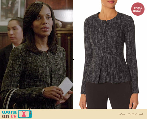 The Limited Tweed Peplum Jacket worn by Kerry Washington on Scandal