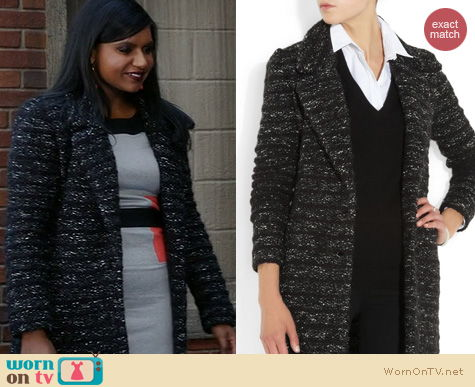 The Mindy Project Fashion: Isabel Marant Ifea Coat worn by Mindy Kaling