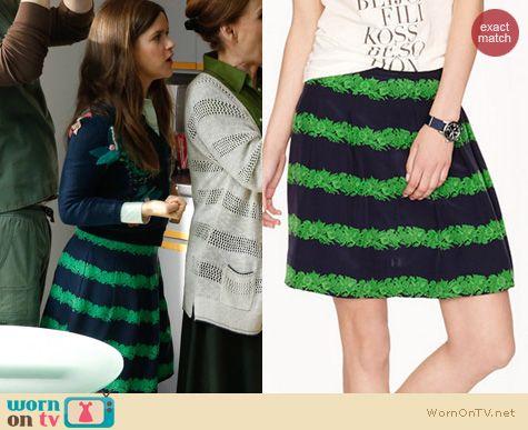 The Mindy Project Fashion: J. Crew Beanstalk Skirt worn by Zoe Jarman