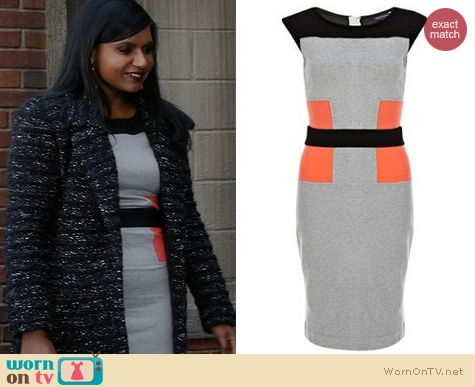 The Mindy Project Style: French Connection Manhattan dress worn by Mindy Kaling