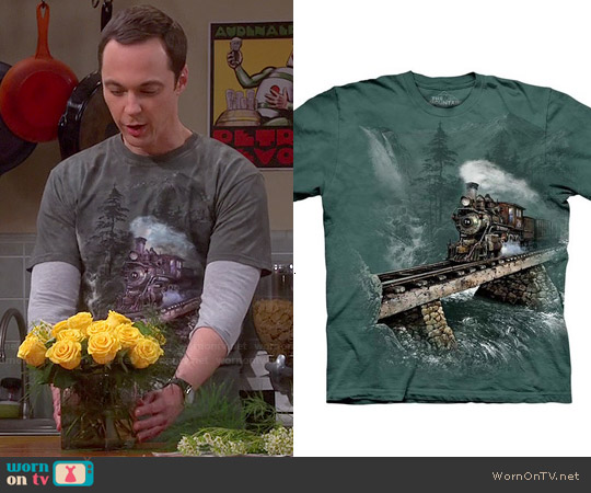 The Mountain Loco 74 Train T-shirt worn by Jim Parsons on The Big Bang Theory
