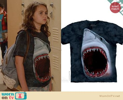 The Mountain Shark Bite Tshirt worn by Wendy on New Girl