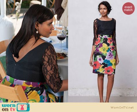 The Office Fashion: Anthropologie Darkbloom dress worn by Mindy Kaling