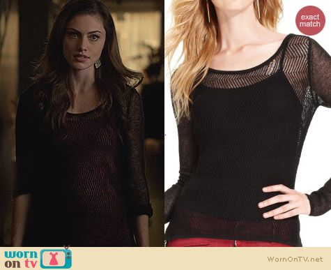 The Originals Fashion: Guess Long Sleeve Chevron Knit Top worn by Phoebe Tonkin