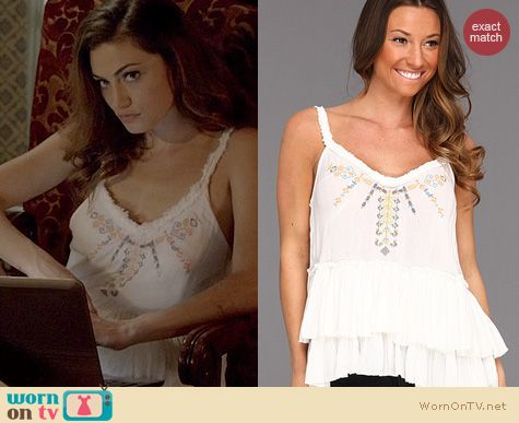 The Originals Fashion: Free People Meadow Ballerina Top worn by Phoebe Tonkin