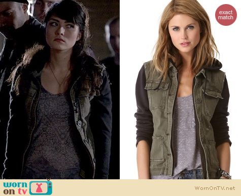 The Originals Fashion: Free People Pieced Twill Jacket worn by Daniella Pineda