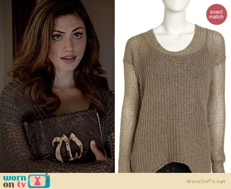 The Originals Fashion: Helmut Lang Crochet Front Sweater worn by Phoebe Tonkin