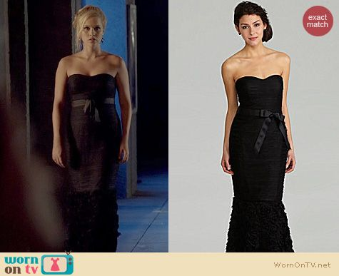 The Originals Fashion: JS Collections Strapless Ruched Gown worn by Claire Holt