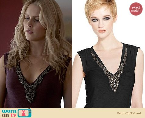 The Originals Fashion: Rachel Roy Rhinestone Tank worn by