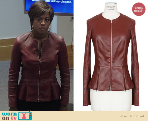 The Row Anasta Jacket worn by Viola Davis on HTGAWM