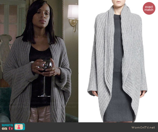 The Row Ilia Ribbed Cocoon Cardigan worn by Kerry Washington on Scandal