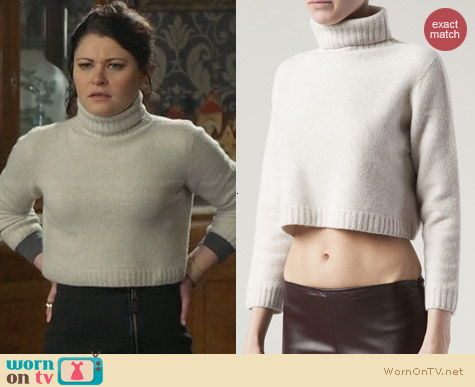 The Row Nenette Turtleneck Cropped Sweater worn by Emilie de Ravin on OUAT