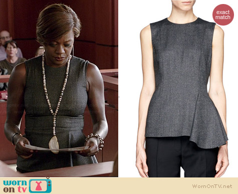 The Row Nikun Asymmetric Hem Top worn by Viola Davis on HTGAWM