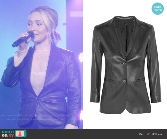 The Row Nolborn Leather Blazer worn by Hayden Panettiere on Nashville
