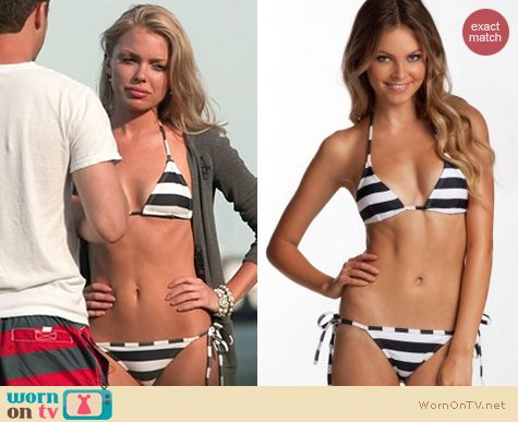 The Vineyard Fashion: Island Company Thunder String Bikini worn by Emily Burns