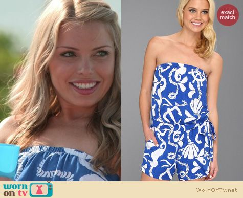 The Vineyard Fashion: Lilly Pulitzer Colleen romper worn by Emily Burns