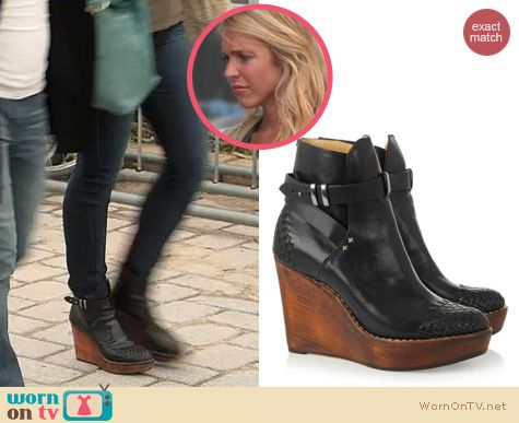 The Vineyard Fashion: Rag & Bone Emery Wedge Ankle Boots worn by Katie Tardif