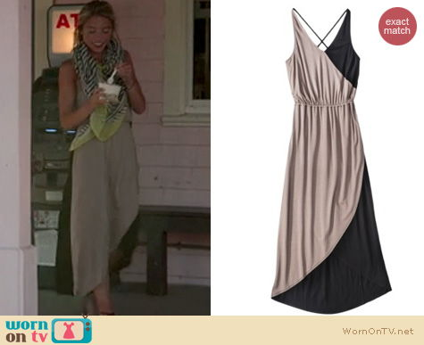 The Vineyard Fashion: Mossimo Cossover maxi dress at Target worn by Katie Tardif