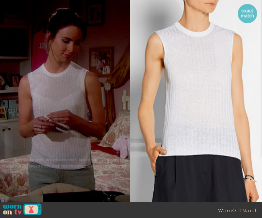 Theory Koronee Top worn by Ashleigh Brewer on The Bold & the Beautiful