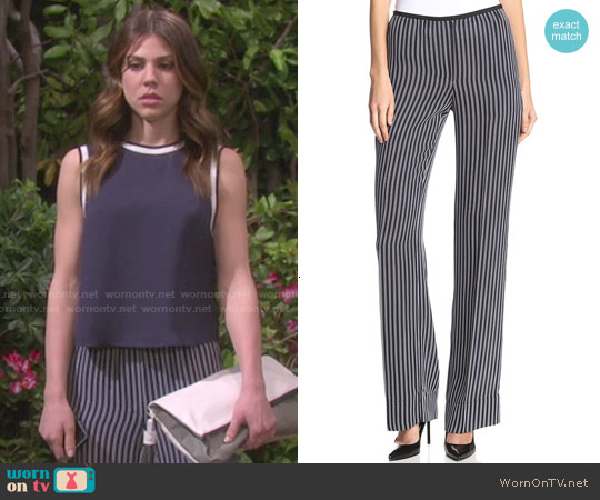 Theory Pajeema Main Stripe Pant worn by Abigail Deveraux on Days of our Lives