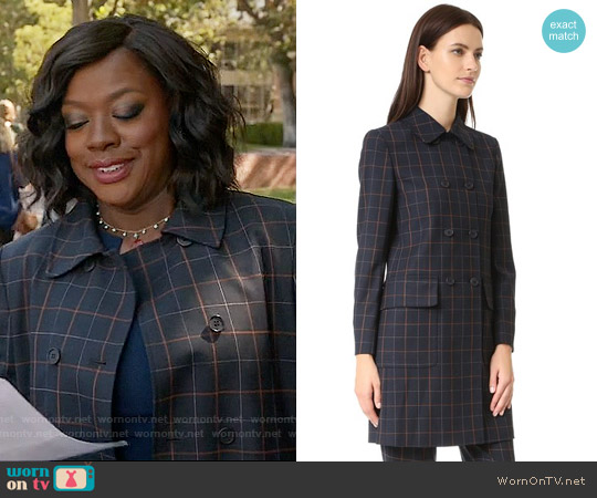 Theory Abla Coat worn by Viola Davis on HTGAWM