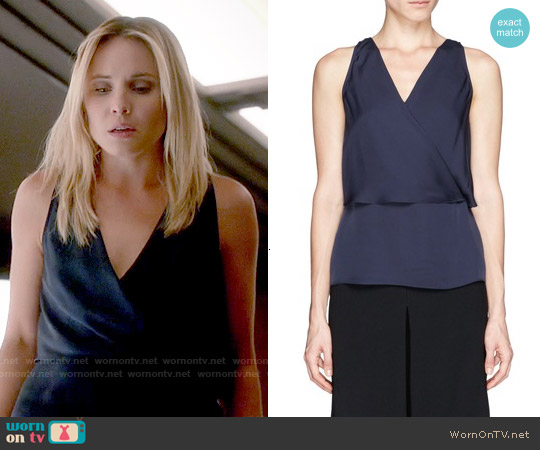 Theory Alizay Top worn by Leah Pipes on The Originals