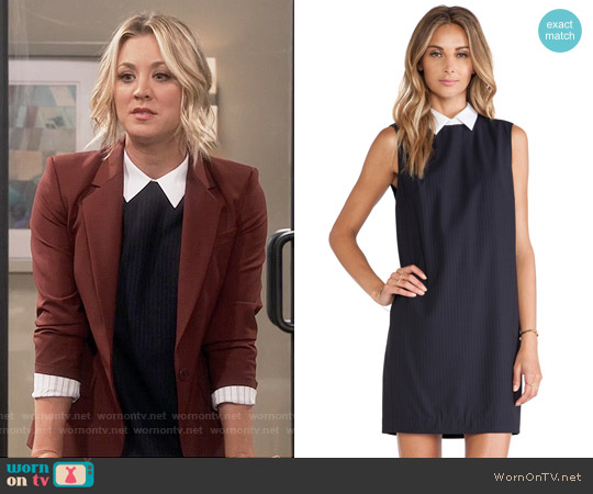 Theory Audrice Dress worn by Kaley Cuoco on The Big Bang Theory