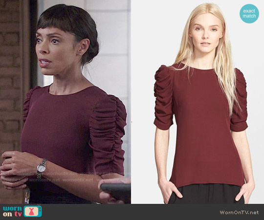 Theory Avonlee Top worn by Tamara Taylor on Bones