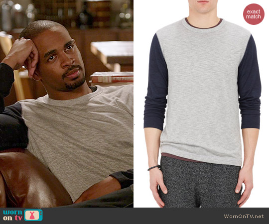 Theory Billey B Long Sleeve Tshirt worn by Damon Wayans Jr on New Girl