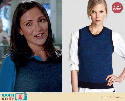 Theory Chaz B Soft Marl Sleeveless Sweater worn by Italia Ricci on Chasing Life