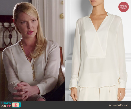 Theory Corbette Blouse worn by Katherine Heigl on State of Affairs
