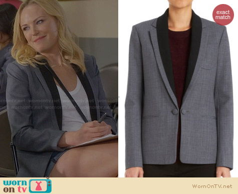 Theory Donelly Blazer worn by Malin Akerman on Trophy Wife
