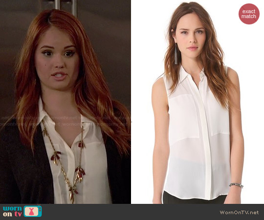 Theory Duria Blouse worn by Debby Ryan on Jessie