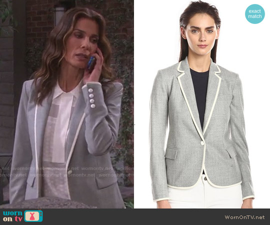 Theory Elisity Blazer worn by Hope Williams on Days of our Lives