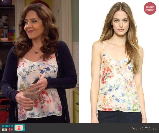 Theory Floral Print Vaneese Cami worn by Maria Canals-Barrera on Cristela