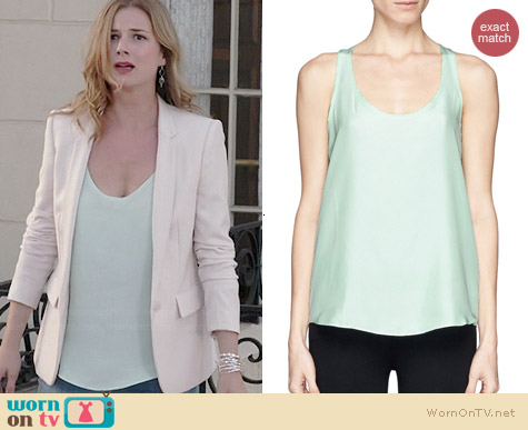 Theory Isaac Top in Mint worn by Emily VanCamp on Revenge