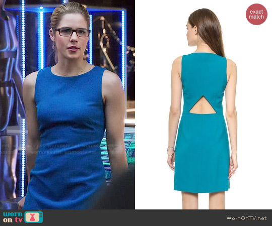 Theory 'Jemania' Dress worn by Emily Bett Rickards on Arrow