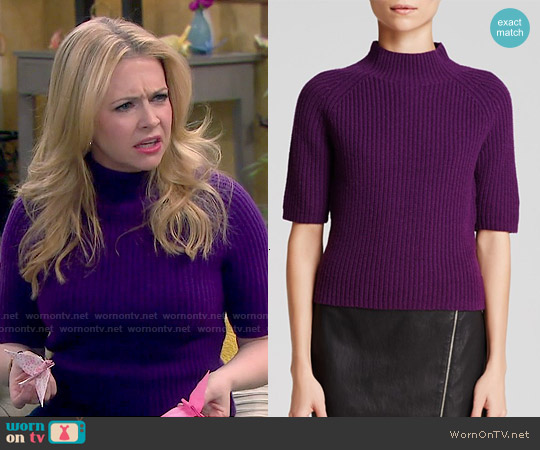 Theory Jodi Fine Haven Sweater worn by Melissa Joan Hart on Melissa & Joey