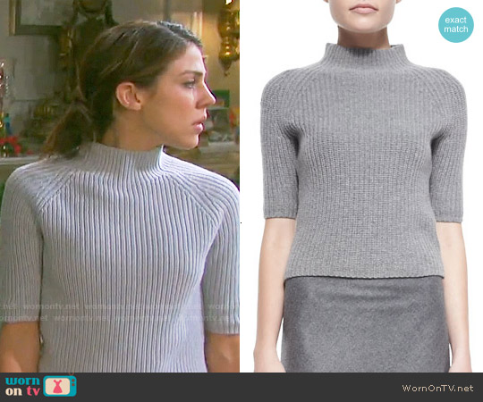 Theory Jodi Sweater worn by Marci Miller on Days of our Lives