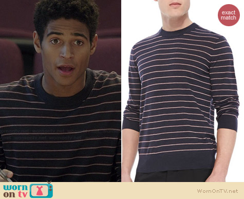 Theory Laine Sweater worn by Alfred Enoch on HTGAWM