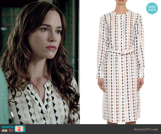Theory Linigole Diamond Print Shirtdress worn by Christa Allen on Revenge