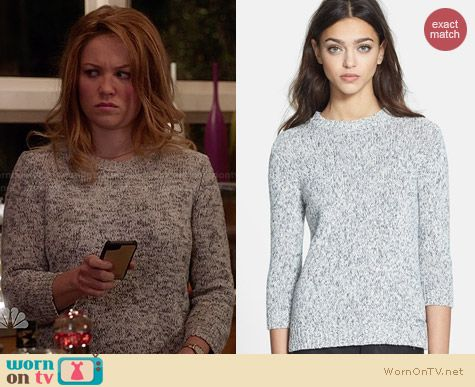 Theory Rainee M Sweater worn by Erika Christensen on Parenthood