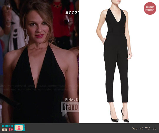 Theory Roxie Tie-Back Crepe Jumpsuit worn by Beau Garrett on GG2D