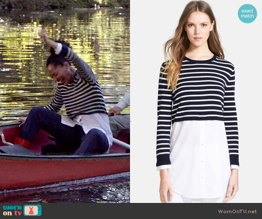 Theory 'Rymalia' Stripe Sweater worn by Tracee Ellis Ross on Blackish