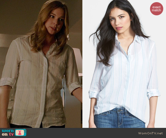 Theory Trillith Shirt worn by Emily VanCamp on Revenge