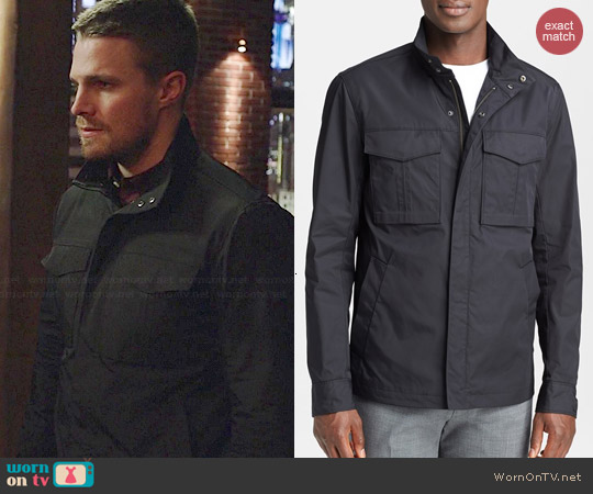 Theory Yost Jacket worn by Stephen Amell on Arrow