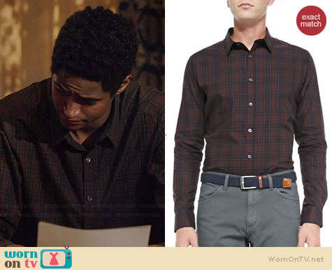 Theor Zack PS Rhone Plaid Shirt worn by Alfred Enoch on HTGAWM