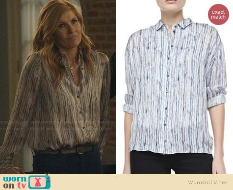 Theyskens Theory Belin Silk Blouse worn by Connie Britton on Nashville