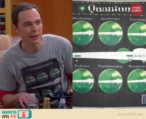 Thinker Clothing Quantum Rules Tee worn by Jim Parsons on The Big Bang Theory