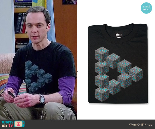Think Geek Minecraft Diamond In the Rough worn by Jim Parsons on The Big Bang Theory